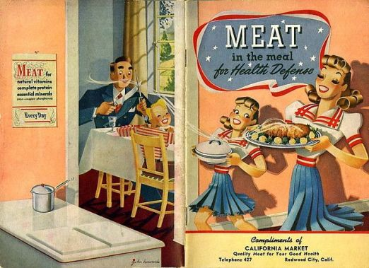 America was obsessed with the idea of meat 3 times a day.